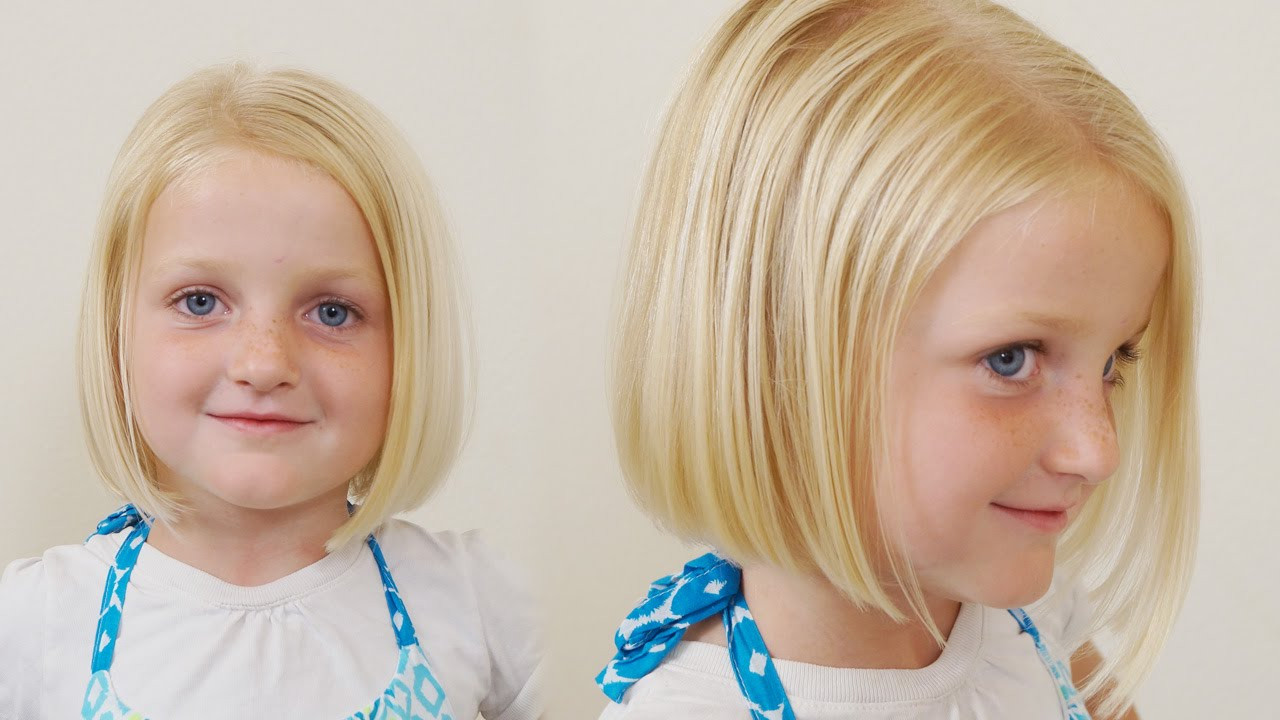 Best ideas about How To Cut Girls Hair . Save or Pin How to Cut little Girls Hair Basic Bob Haircut Short Now.