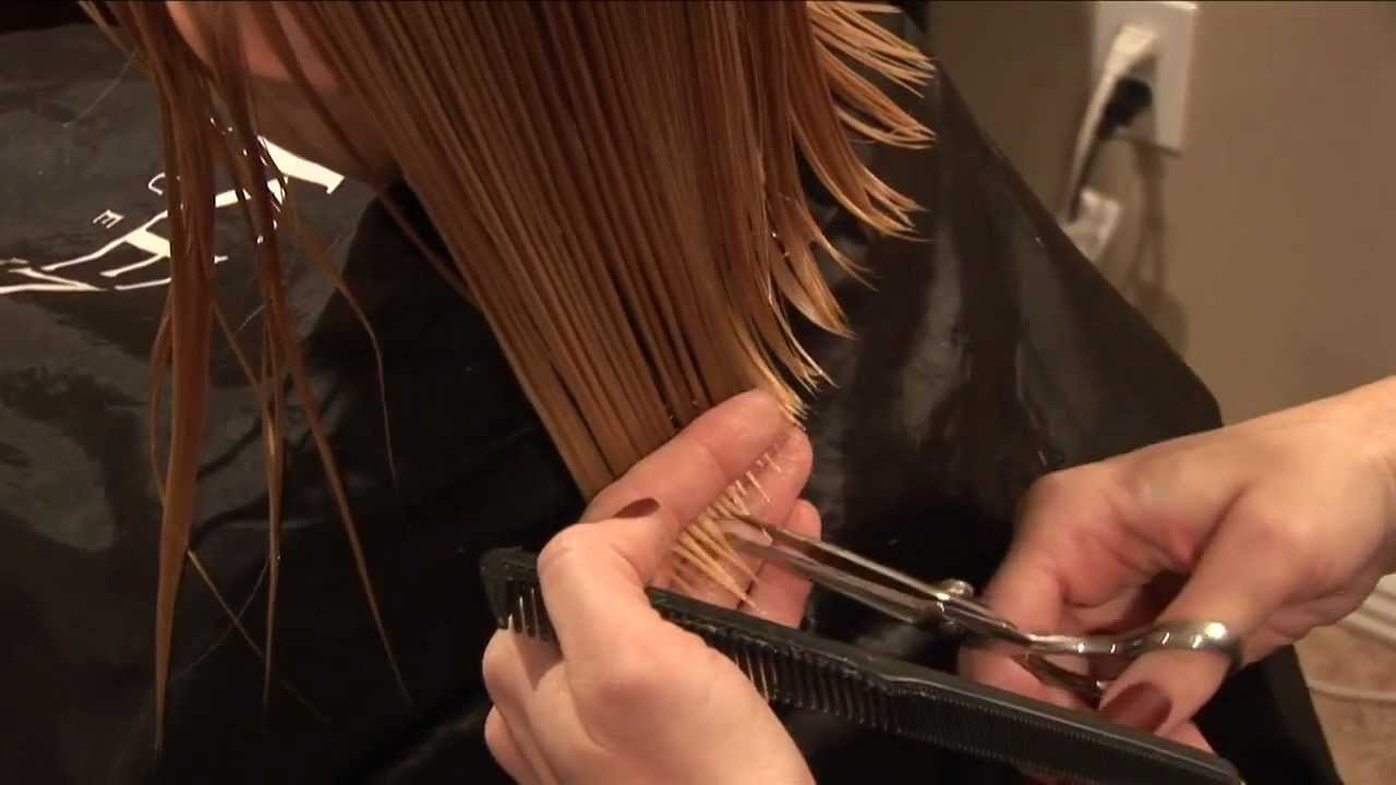Best ideas about How To Cut Girls Hair . Save or Pin HOW TO CUT GIRLS HAIR Basic Girls Trim hair tutorial Now.