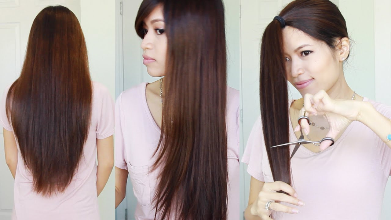 Best ideas about How To Cut Girls Hair . Save or Pin The Best Hair Hack ♥ How to Cut & Layer Your Hair at Home Now.
