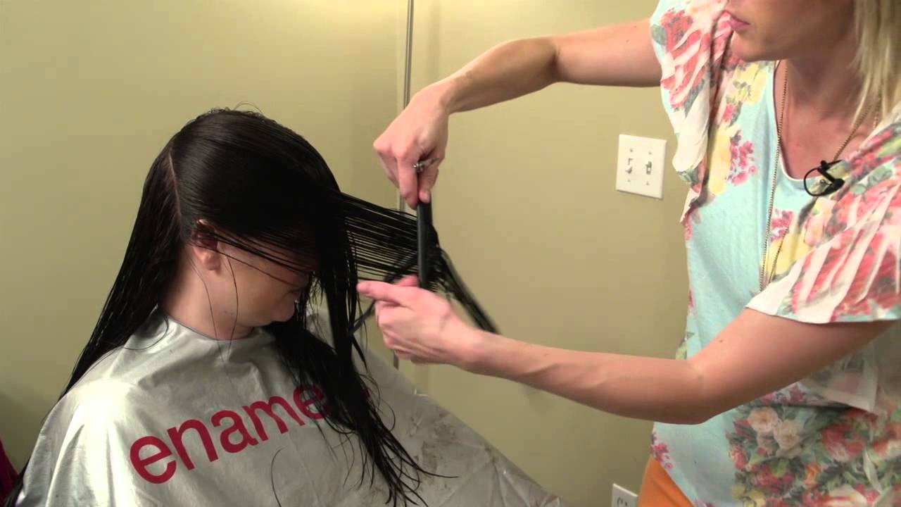 Best ideas about How To Cut Womens Hair . Save or Pin How to do a V cut V cut layering on women s hair Now.