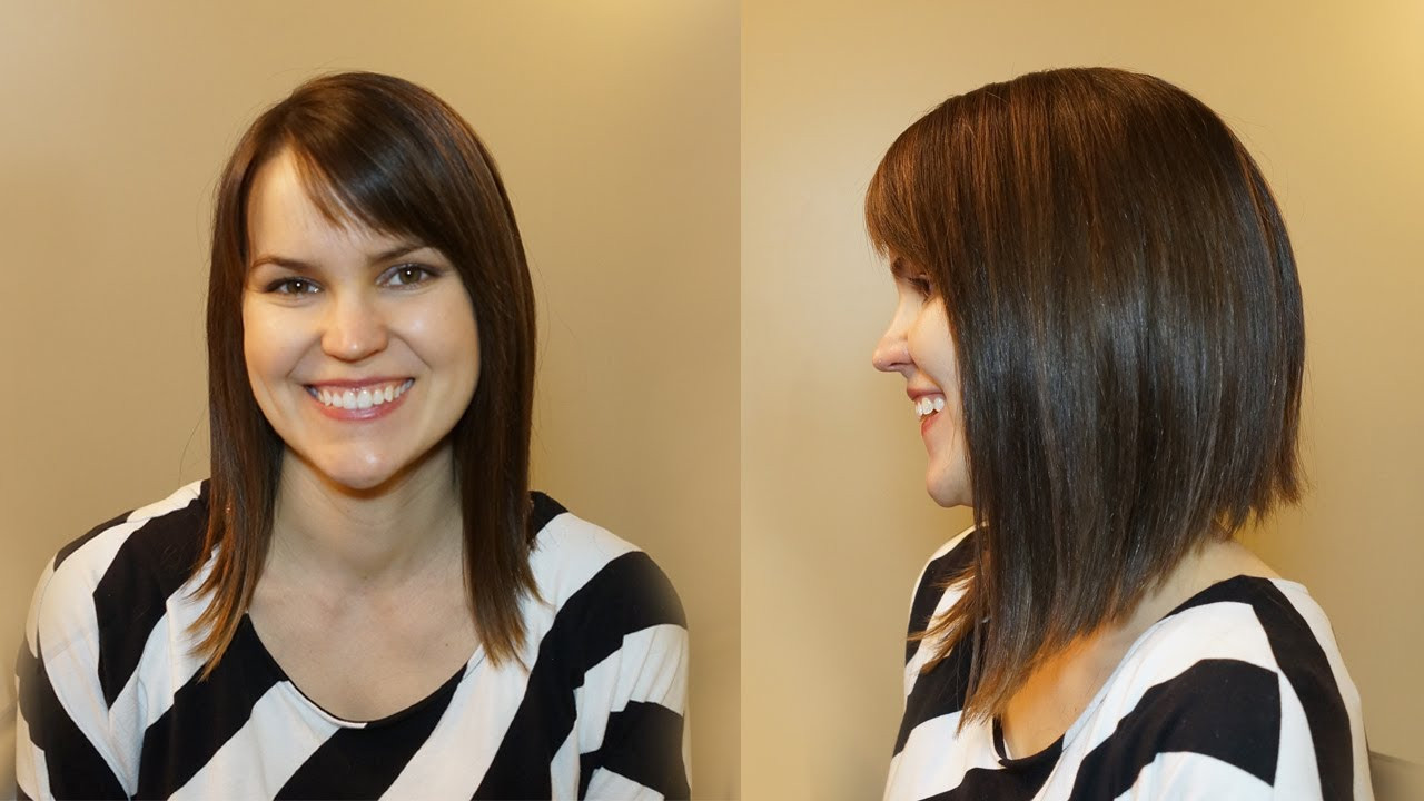 Best ideas about How To Cut Womens Hair . Save or Pin HOW TO CUT WOMENS HAIR DRAMATIC BOB HAIRCUT Now.
