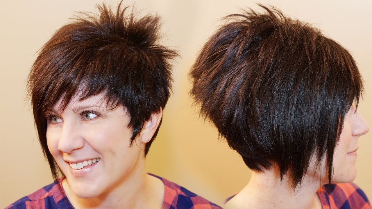 Best ideas about How To Cut Womens Hair . Save or Pin HOW TO CUT WOMENS HAIR Short Pixie Assymetrical A line Now.