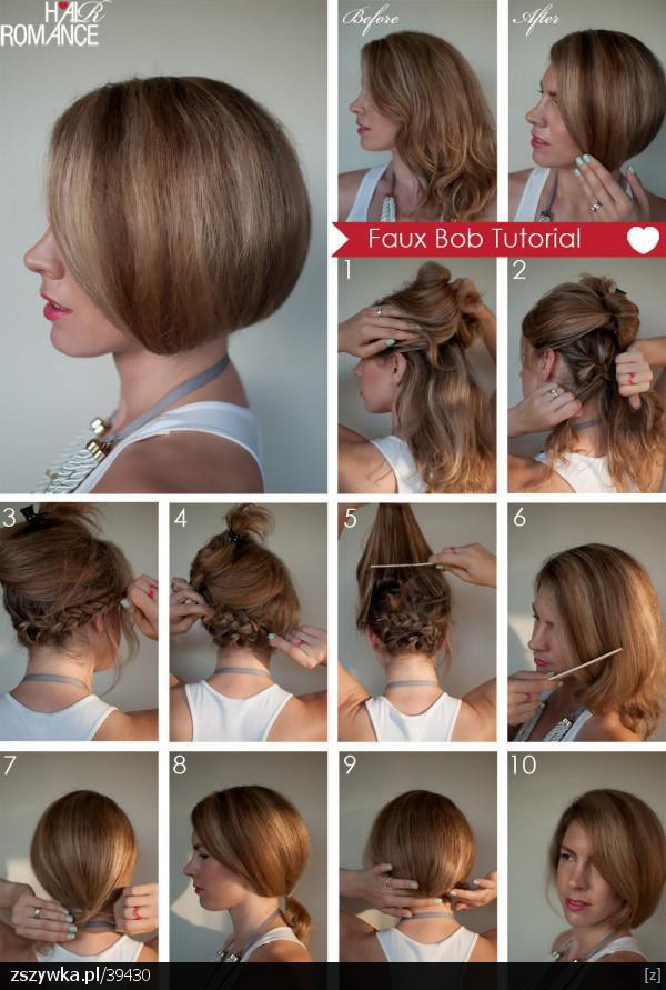 Best ideas about How To Cut Your Own Hair Into A Bob . Save or Pin Secrets in my heart Z długich krótkie czyli Faux Bob Now.