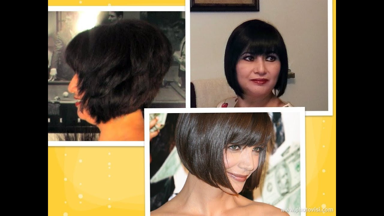 Best ideas about How To Cut Your Own Hair Into A Bob . Save or Pin How to cut hair at home do a Short Stacked Chin length Now.