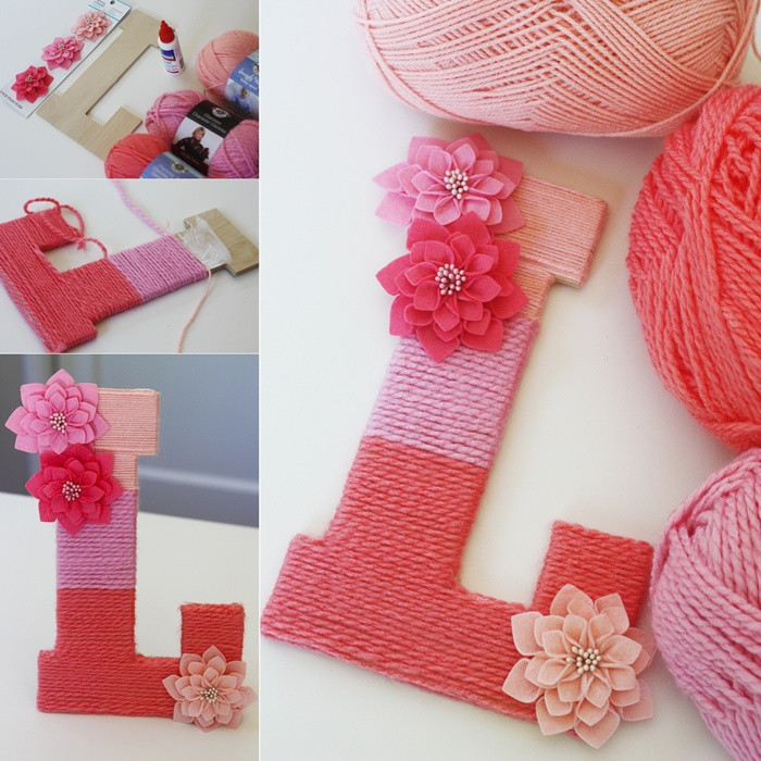 Best ideas about How To Decorate Your Room DIY . Save or Pin DIY Yarn Covered Ombre Monogram to Decorate Your Little Now.