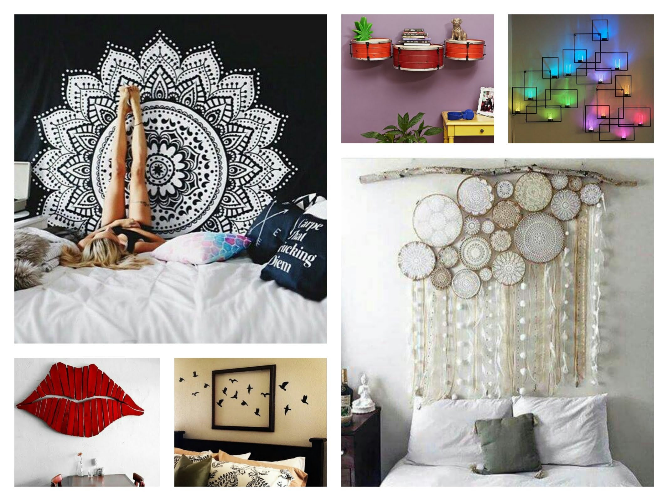Best ideas about How To Decorate Your Room DIY . Save or Pin 5 Creative Ideas for Decorating Walls Dap fice Now.