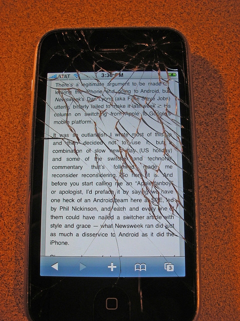Best ideas about How To Fix A Cracked Phone Screen DIY . Save or Pin Cracked iPhone 4 Screen is it a DIY Fix iFixYouri Blog Now.
