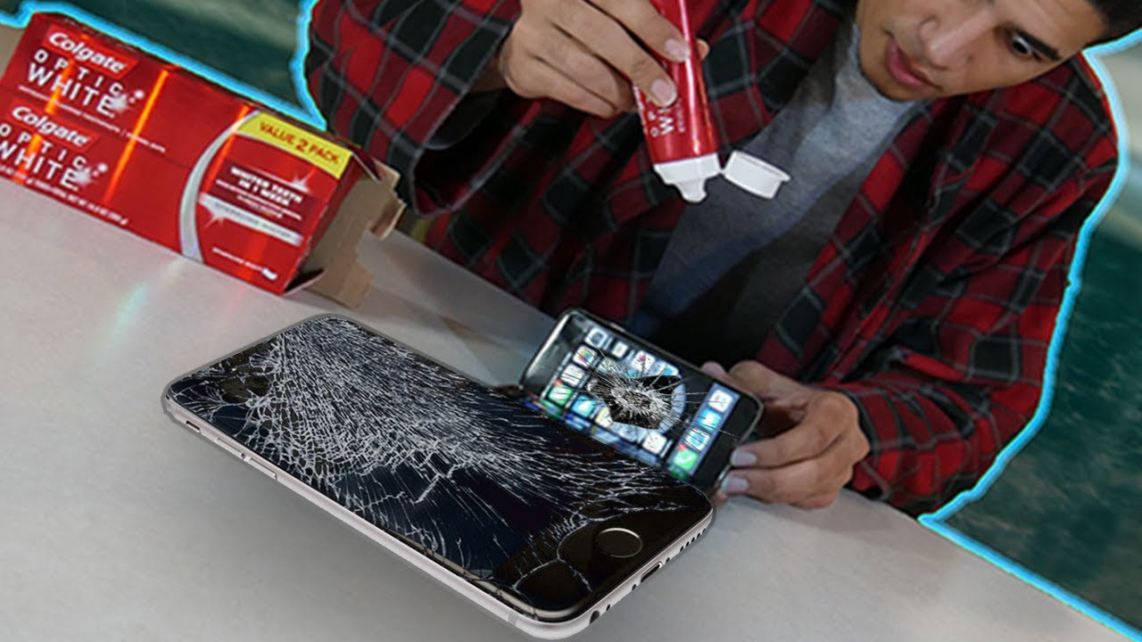 Best ideas about How To Fix A Cracked Phone Screen DIY . Save or Pin Does Toothpaste REALLY REMOVE Cracks A Phone Does Now.