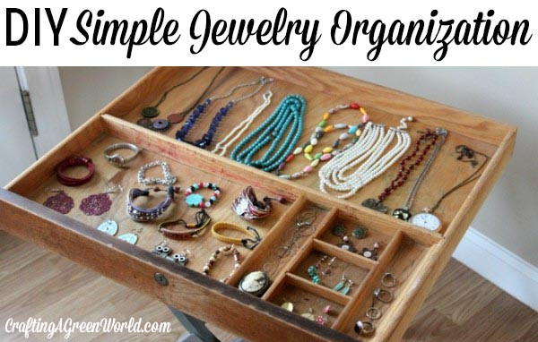 Best ideas about How To Organize Jewelry DIY . Save or Pin How to Organize Jewelry with a Vintage Drawer Now.