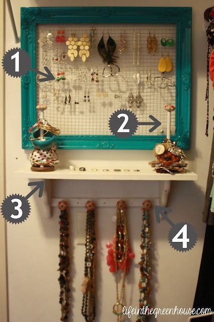 Best ideas about How To Organize Jewelry DIY . Save or Pin Life in the Green House Home Sweet Home Now.