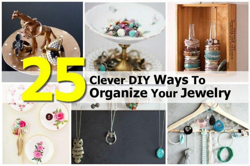 Best ideas about How To Organize Jewelry DIY . Save or Pin 25 Clever DIY Ways To Organize Your Jewelry Now.