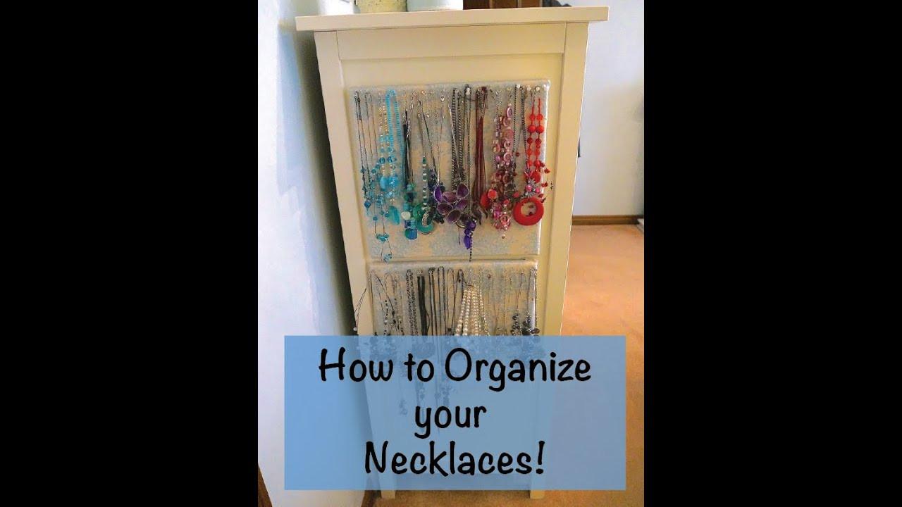 Best ideas about How To Organize Jewelry DIY . Save or Pin How to Organize Necklaces DIY necklace organizer Now.