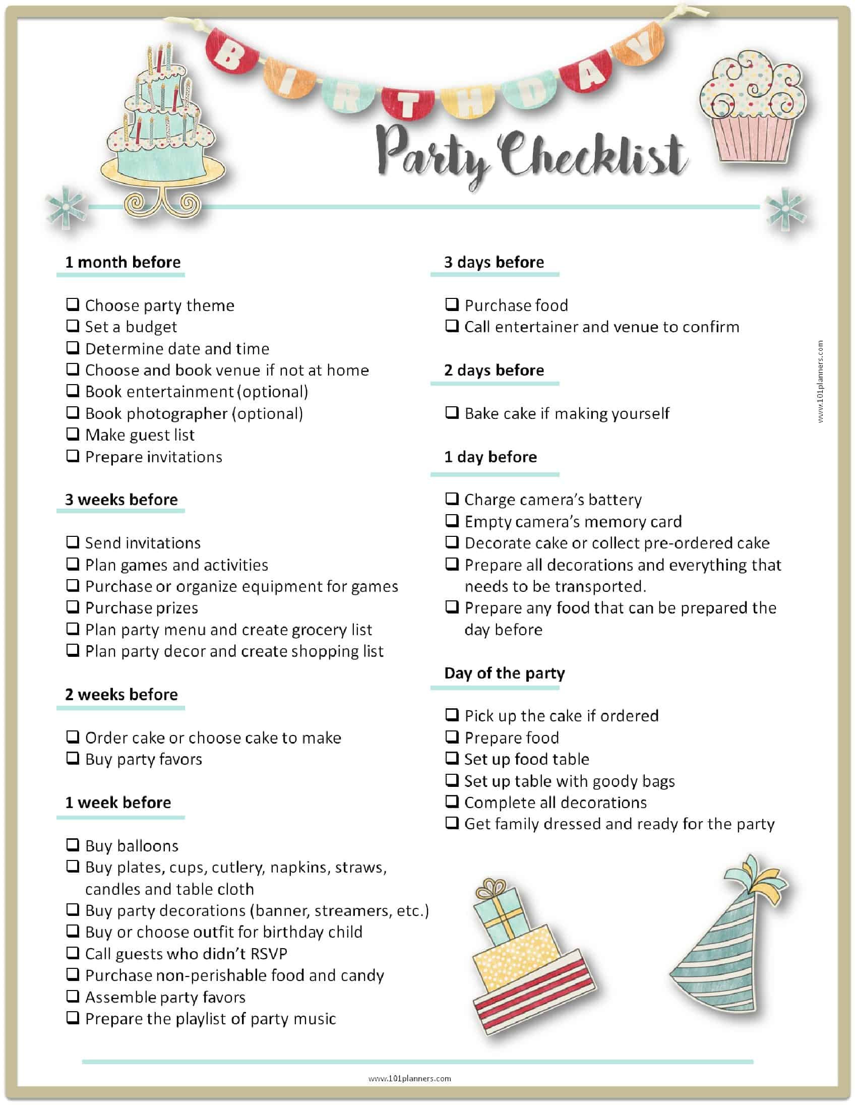 Best ideas about How To Plan A Birthday Party . Save or Pin Party Planning Template Now.