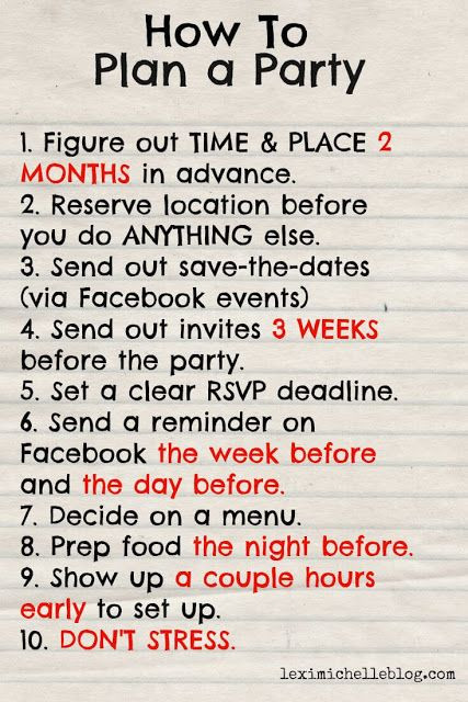 Best ideas about How To Plan A Birthday Party . Save or Pin Best 25 Birthday party checklist ideas on Pinterest Now.