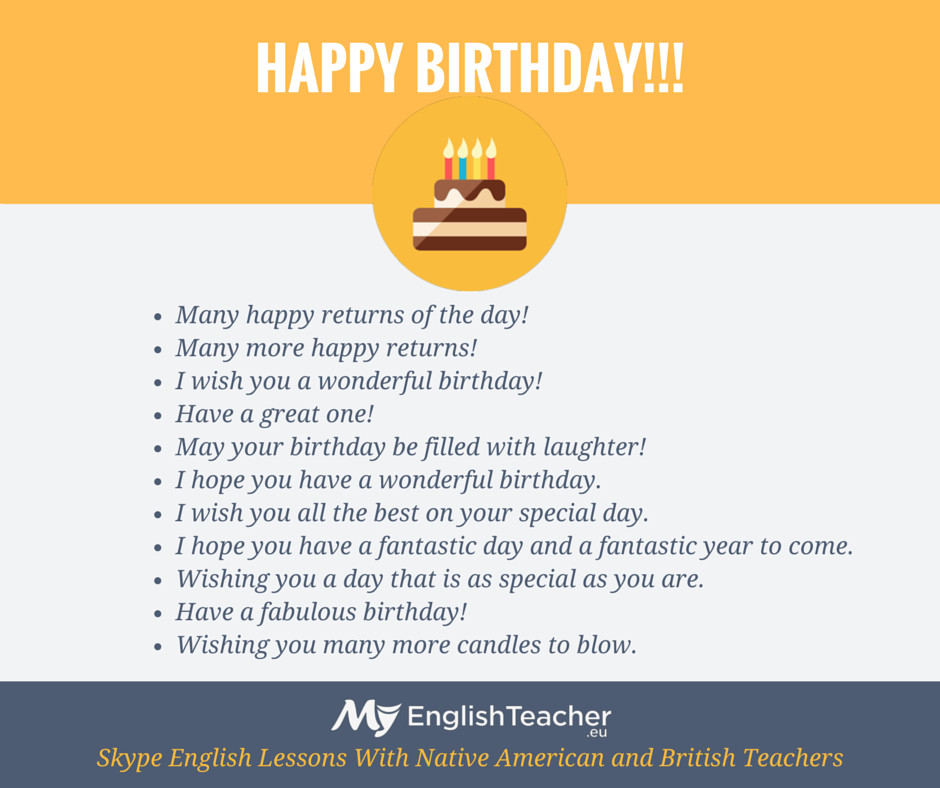Best ideas about How To Wish Someone Happy Birthday . Save or Pin Other Ways to Say HAPPY BIRTHDAY 🎉🍰🎁 MyEnglishTeacher Now.