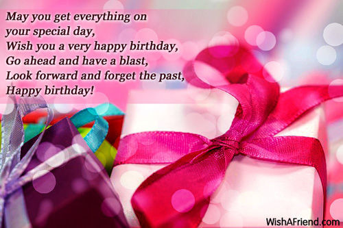 Best ideas about How To Wish Someone Happy Birthday . Save or Pin May You Get Everything Your Special Day Wish You A Now.