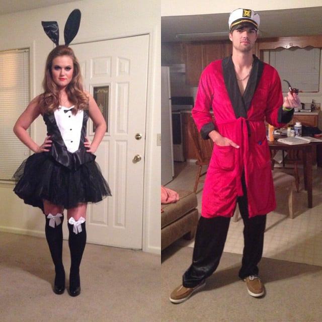Best ideas about Hugh Hefner Costume DIY . Save or Pin Hugh Hefner and Playboy Bunny Now.