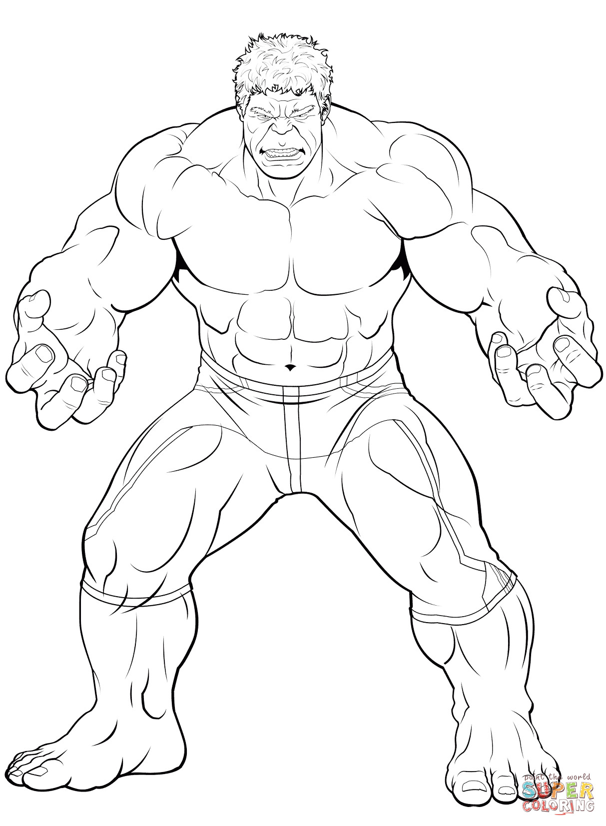Best ideas about Hulk Coloring Pages For Kids . Save or Pin Avengers The Hulk coloring page Now.