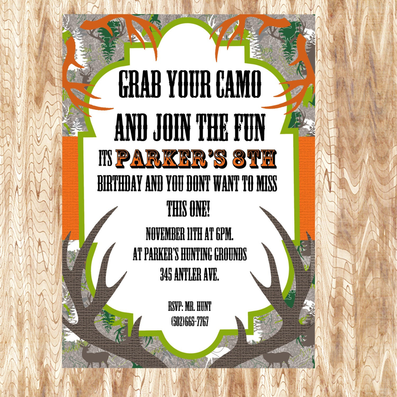 Best ideas about Hunting Birthday Invitations . Save or Pin Camo Birthday Invitation JPEG 300 dpi Printable by Now.