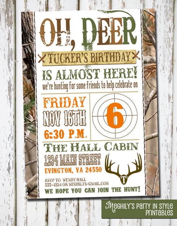 Best ideas about Hunting Birthday Invitations . Save or Pin Hunting Theme Birthday Invitation Now.
