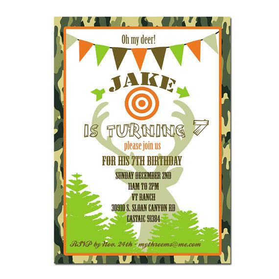 Best ideas about Hunting Birthday Invitations . Save or Pin Hunting Party invitation Hunting Birthday Invitation Now.