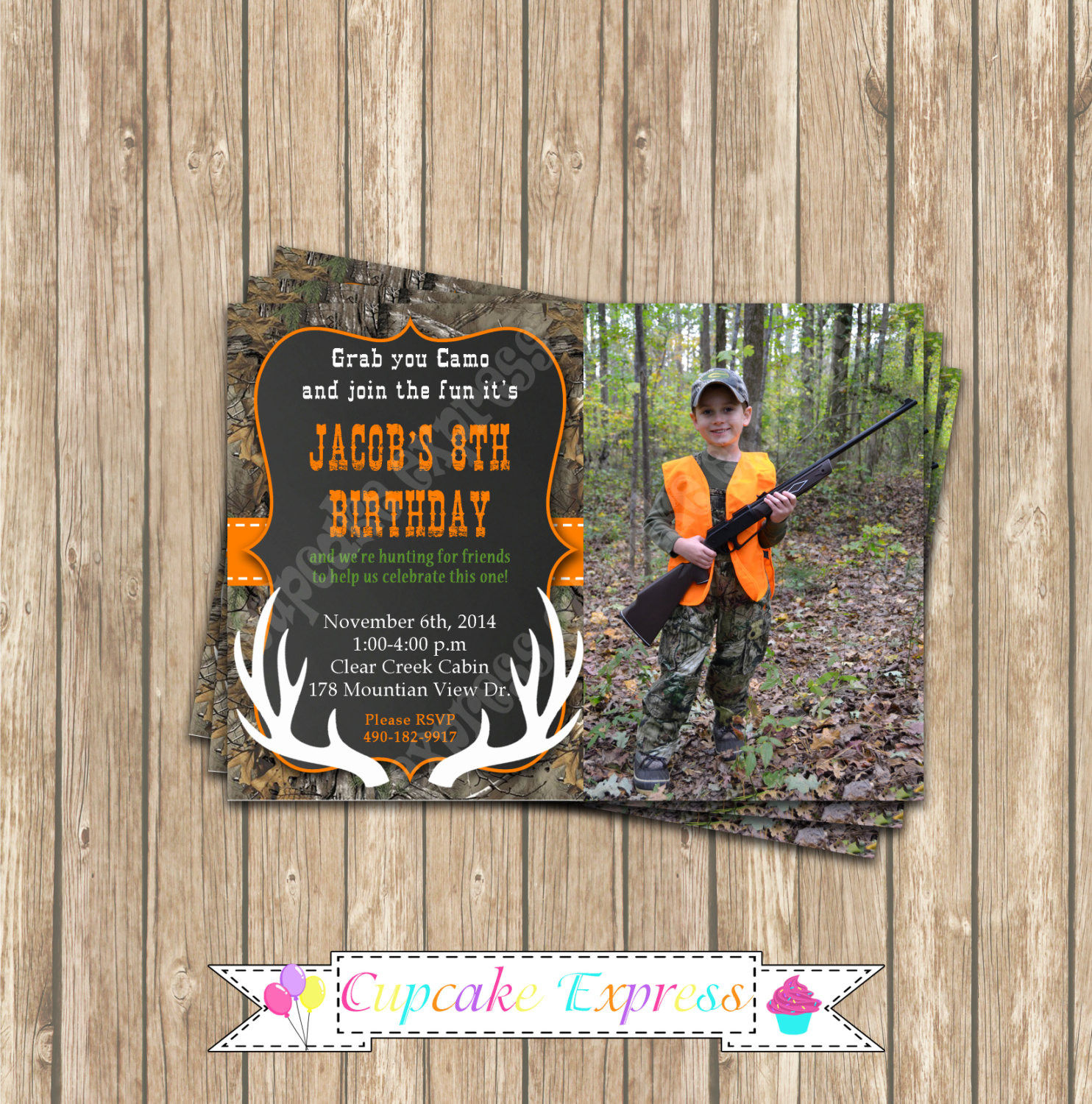 Best ideas about Hunting Birthday Invitations . Save or Pin Camo birthday invitation camo invitation Boy Hunting Now.