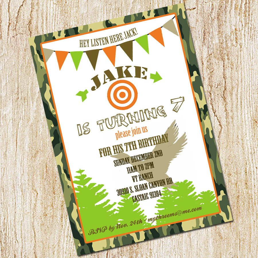 Best ideas about Hunting Birthday Invitations . Save or Pin Duck Dynasty Invitation Duck Hunting Party invitation Now.