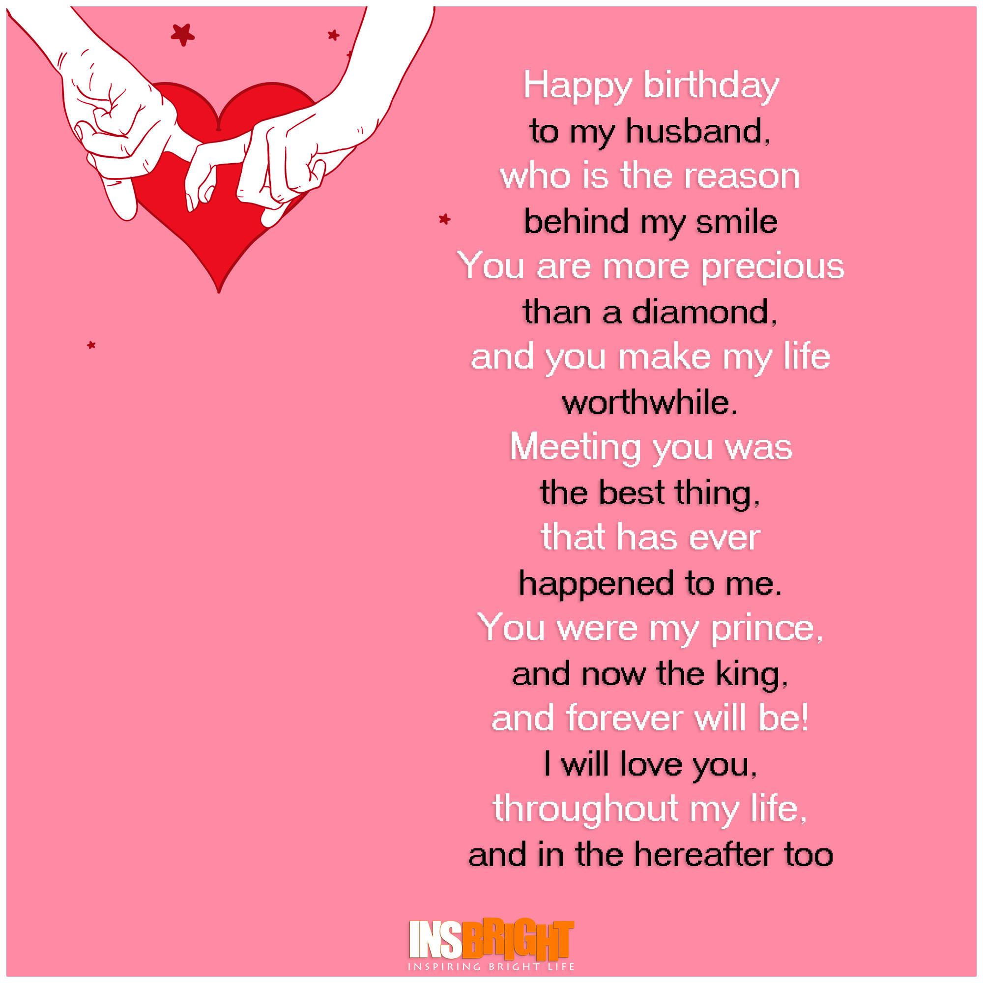 Best ideas about Husband Birthday Quotes . Save or Pin Romantic Happy Birthday Poems For Husband From Wife Now.