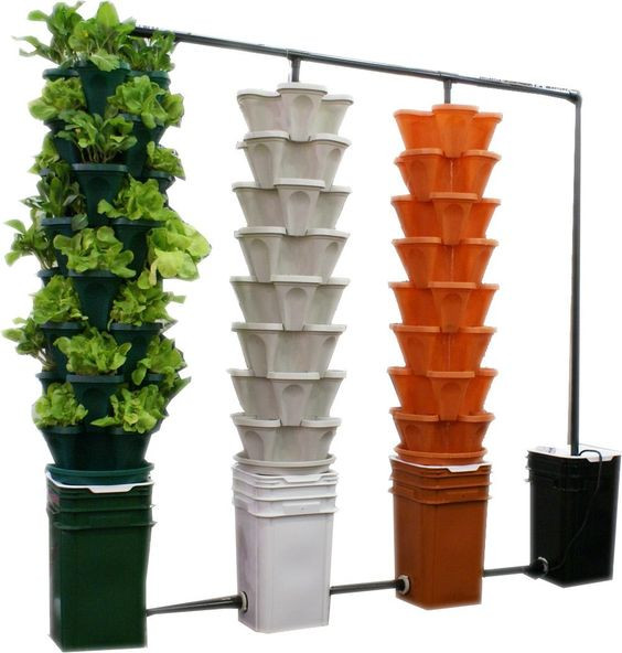 Best ideas about Hydroponic Tower Garden DIY . Save or Pin Gardens Planters and Vertical gardens on Pinterest Now.