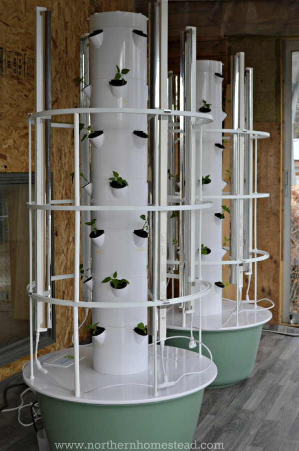 Best ideas about Hydroponic Tower Garden DIY . Save or Pin Growing the Tower Garden in Cold Climate Northern Homestead Now.