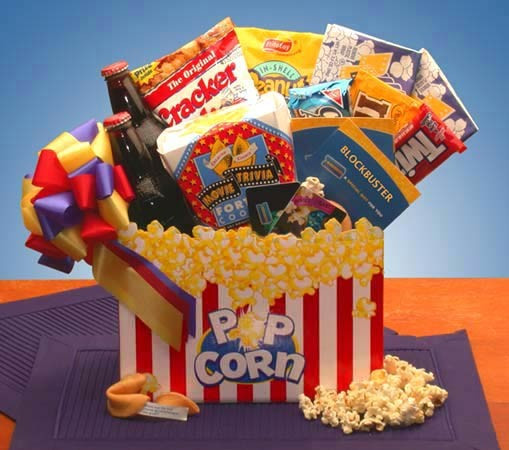 Best ideas about Ideas For A Movie Theater Gift Basket . Save or Pin Movie Night Gift Box Snack Gift Baskets Now.