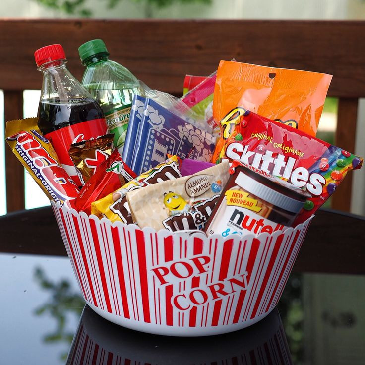 Best ideas about Ideas For A Movie Theater Gift Basket . Save or Pin 25 unique Popcorn t baskets ideas on Pinterest Now.