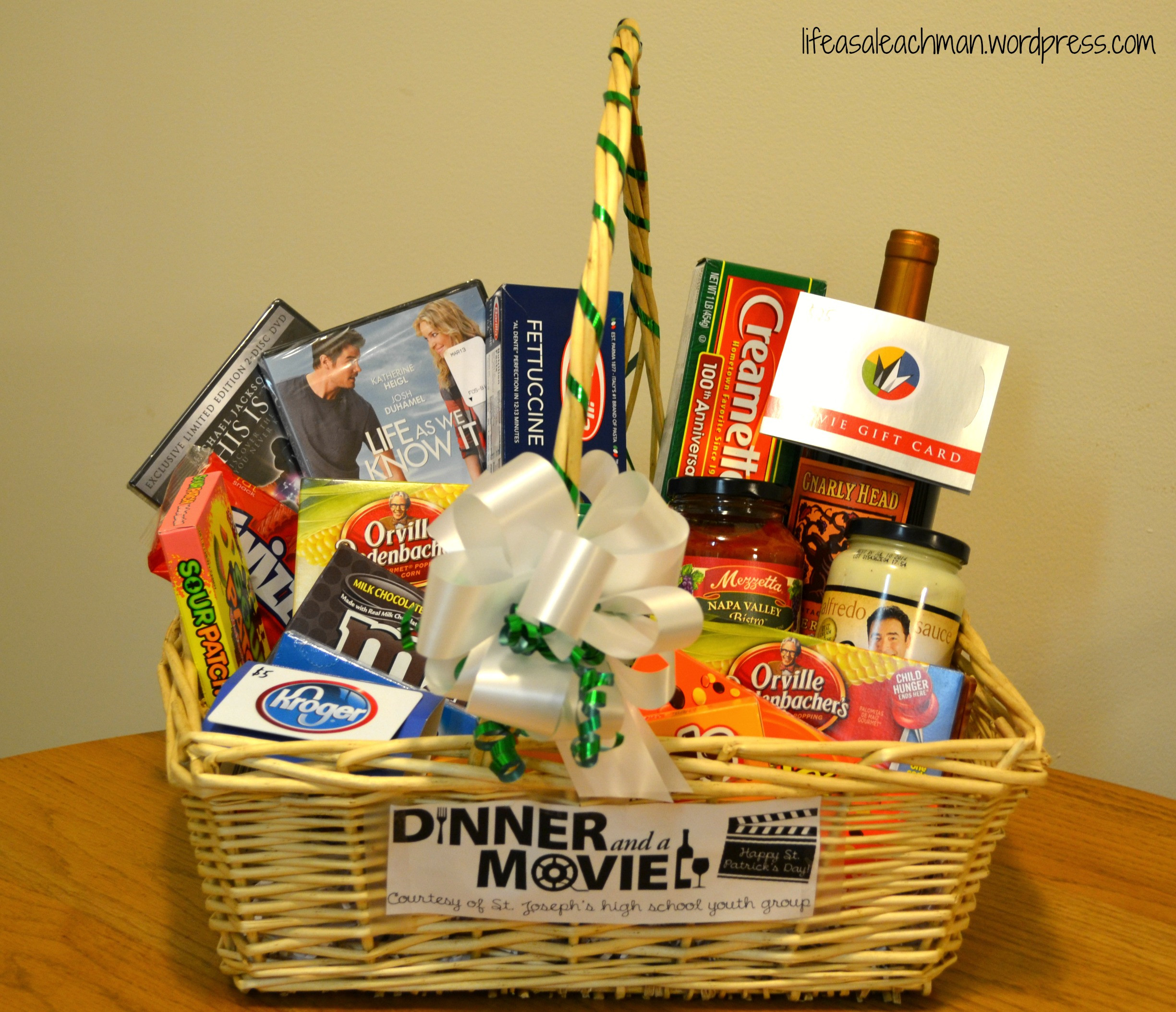 Best ideas about Ideas For A Movie Theater Gift Basket . Save or Pin 'Dinner & a Movie' t basket Now.