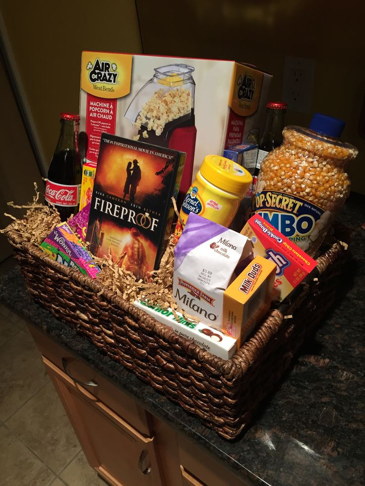 Best ideas about Ideas For A Movie Theater Gift Basket . Save or Pin 25 best ideas about Movie night basket on Pinterest Now.