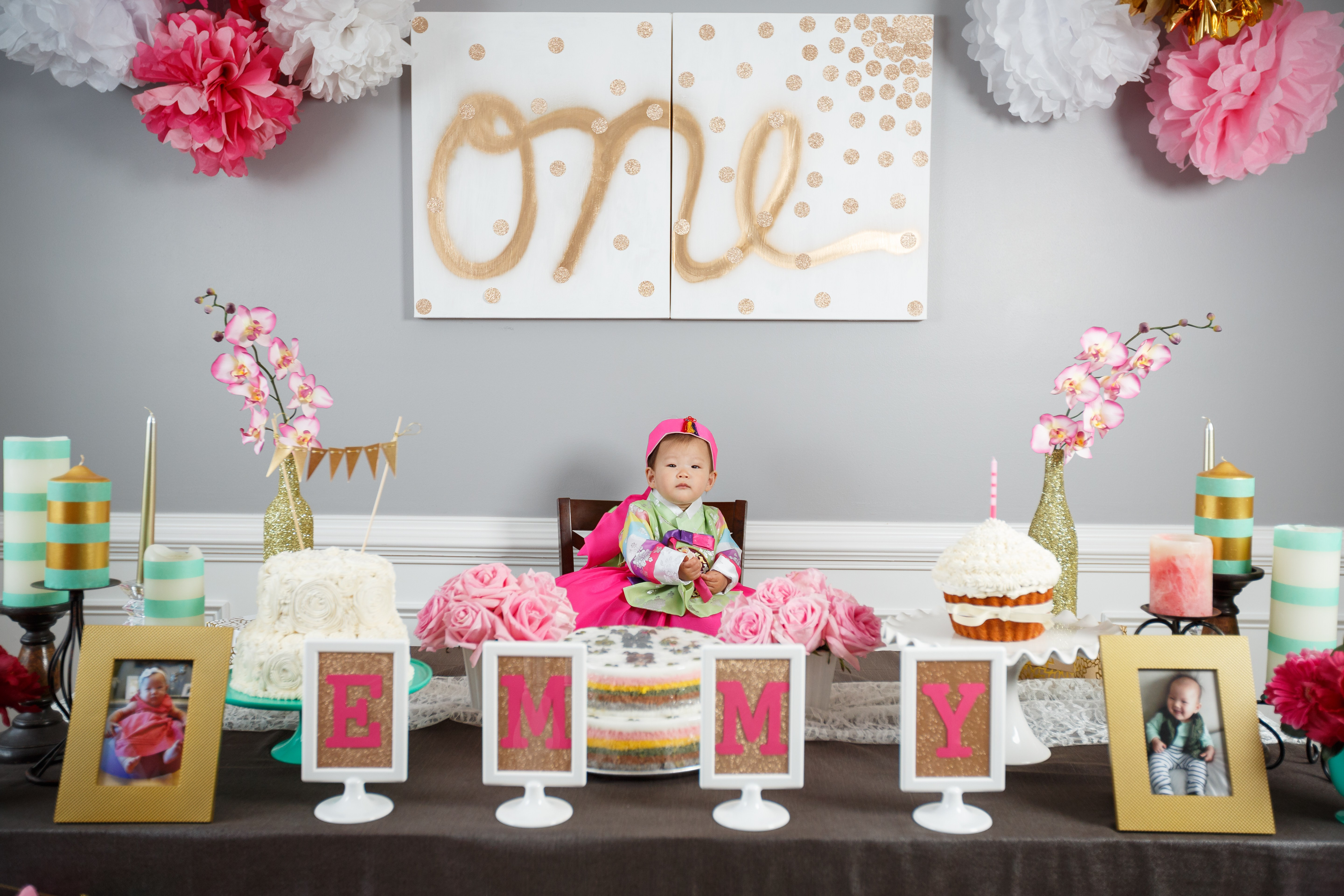 Best ideas about Ideas For First Birthday . Save or Pin Emmy s Dohl Korean 1st Birthday Party Love Your Abode Now.