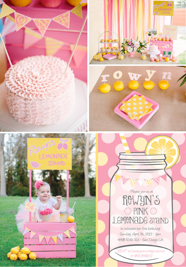 Best ideas about Ideas For First Birthday . Save or Pin Kara s Party Ideas Pink Lemonade Girl Summer 1st Birthday Now.