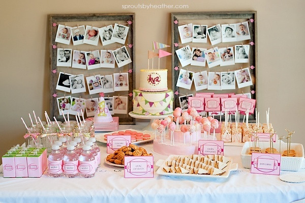 Best ideas about Ideas For First Birthday . Save or Pin first birthday party table setting All items except the Now.