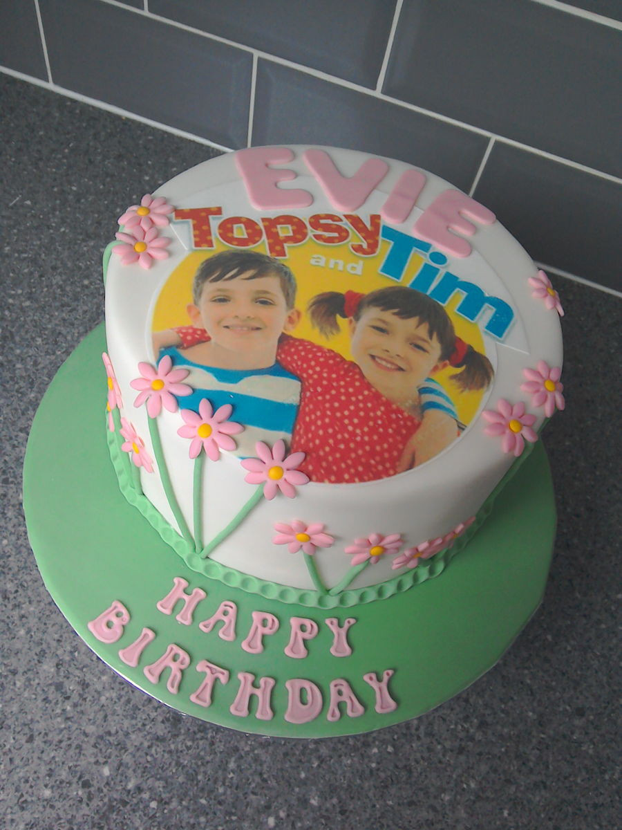 Best ideas about Image Birthday Cake . Save or Pin Topsy & Tim Edible Image Birthday Cake CakeCentral Now.