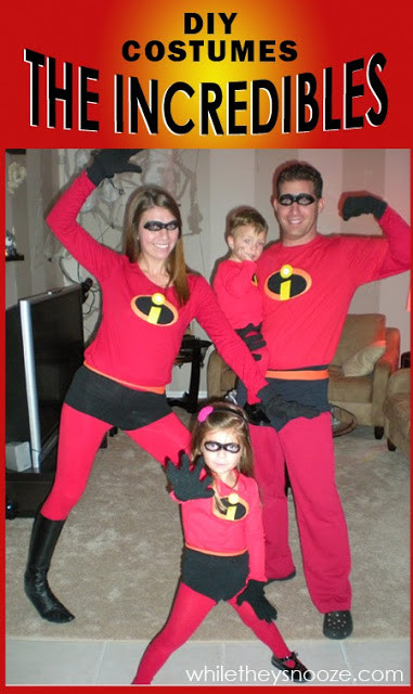 Best ideas about Incredibles DIY Costumes . Save or Pin While They Snooze How to Make The Incredibles Halloween Now.