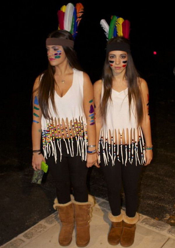 Best ideas about Indian Halloween Costumes DIY . Save or Pin 35 Girlfriend Group Halloween Costume Ideas Noted List Now.