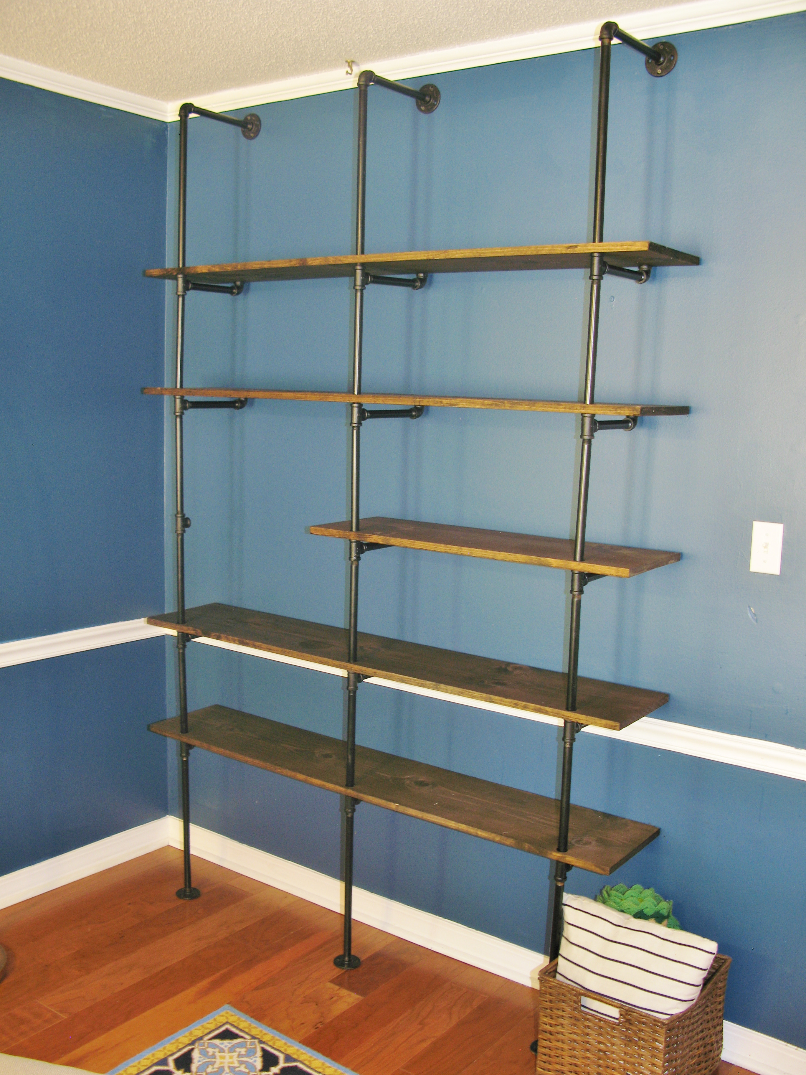 Best ideas about Industrial Pipe Shelving DIY . Save or Pin DIY Industrial Pipe Bookshelf Now.
