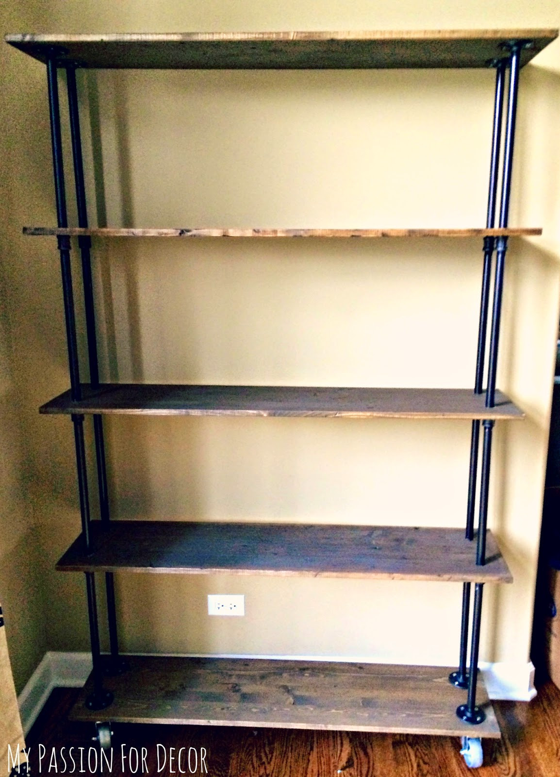 Best ideas about Industrial Pipe Shelving DIY . Save or Pin My Passion For Decor DIY Industrial Pipe and Wood Shelving Now.
