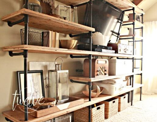 Best ideas about Industrial Pipe Shelving DIY . Save or Pin DIY Industrial Pipe Shelves Twelve Main Now.