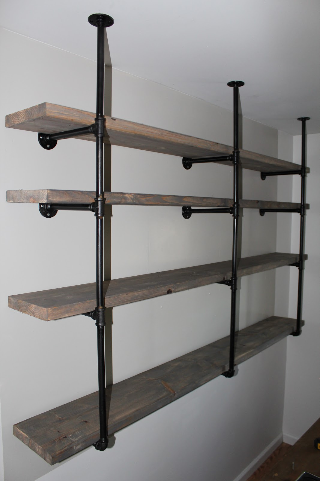 Best ideas about Industrial Pipe Shelving DIY . Save or Pin Sylvie Liv Industrial Rustic Shelf Tutorial Now.