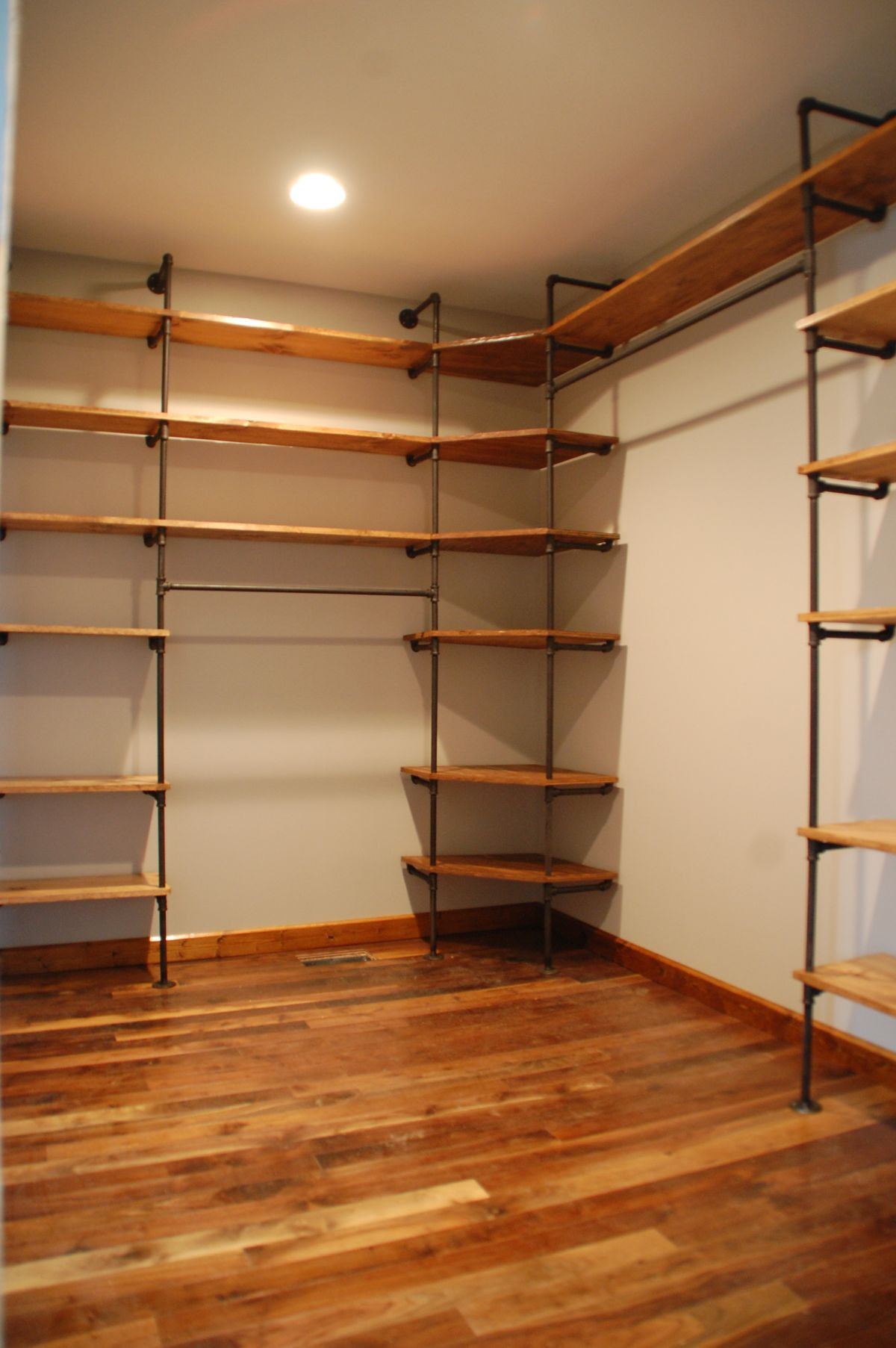 Best ideas about Industrial Pipe Shelving DIY . Save or Pin How To Customize A Closet For Improved Storage Capacity Now.
