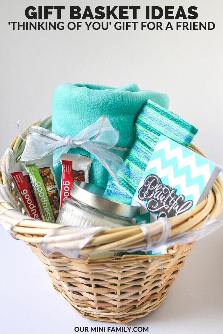 Best ideas about Inexpensive Gift Baskets Ideas . Save or Pin Thinking of You Gift Basket Now.