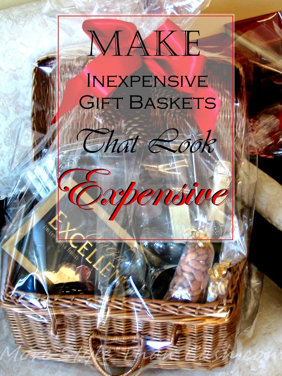 Best ideas about Inexpensive Gift Baskets Ideas . Save or Pin Make Inexpensive Gift Baskets that Look Expensive Now.