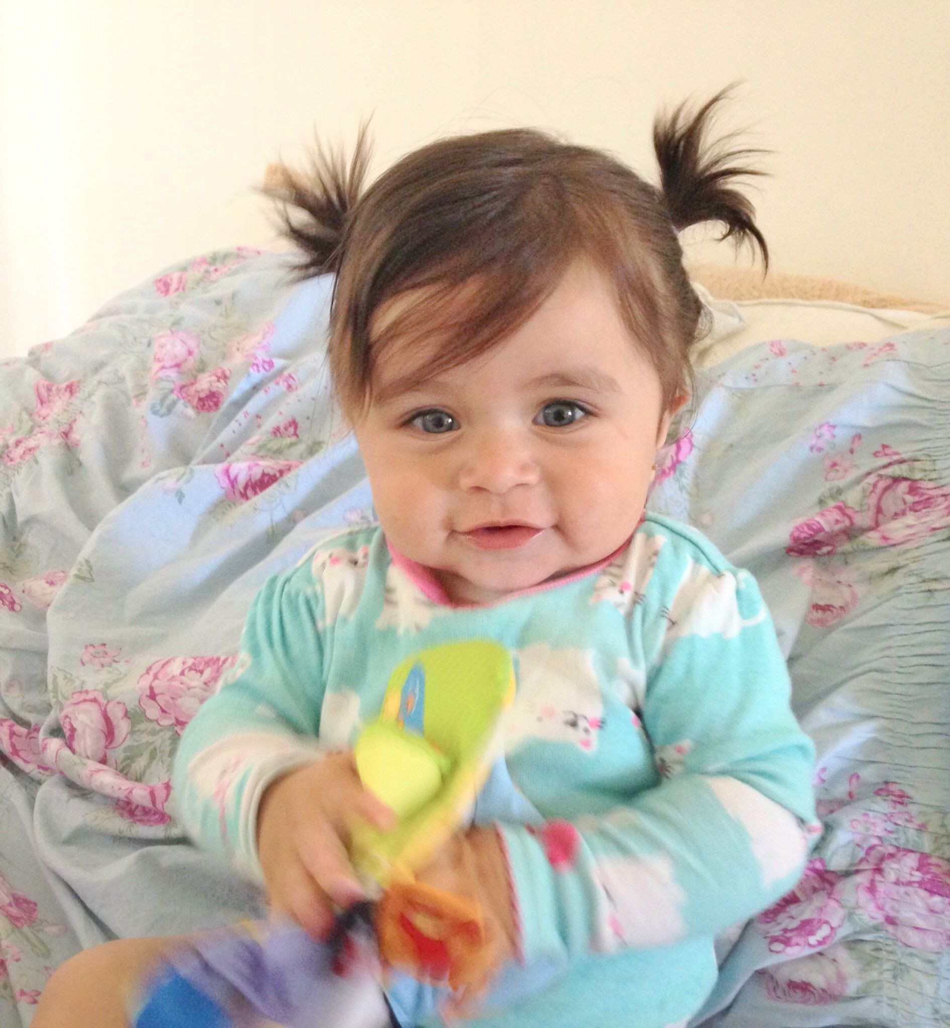 Best ideas about Infant Girls Hairstyles . Save or Pin Baby girl hair dos ponytails cute Baby stuff D Now.