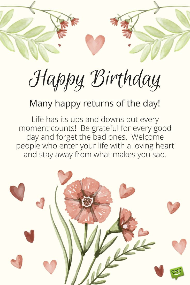 Best ideas about Inspirational Birthday Wishes . Save or Pin Inspirational Birthday Wishes Now.