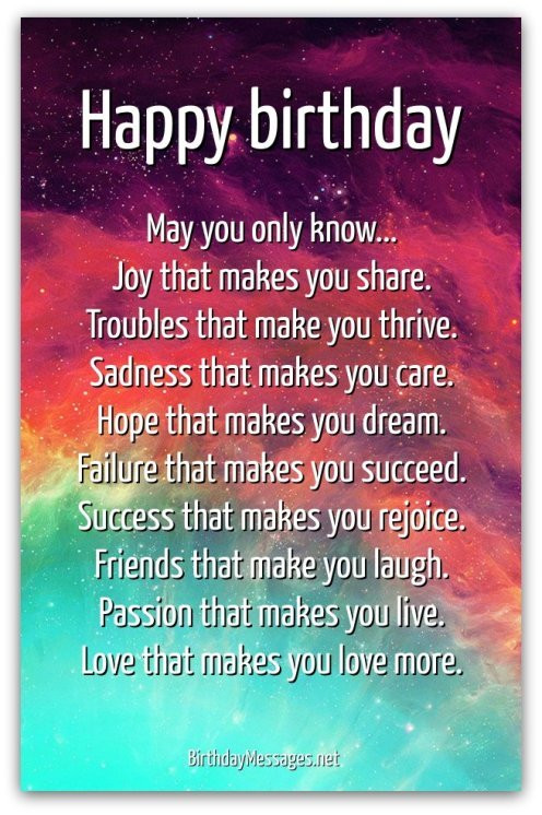 Best ideas about Inspirational Birthday Wishes . Save or Pin Inspirational Birthday Poems Page 2 Now.